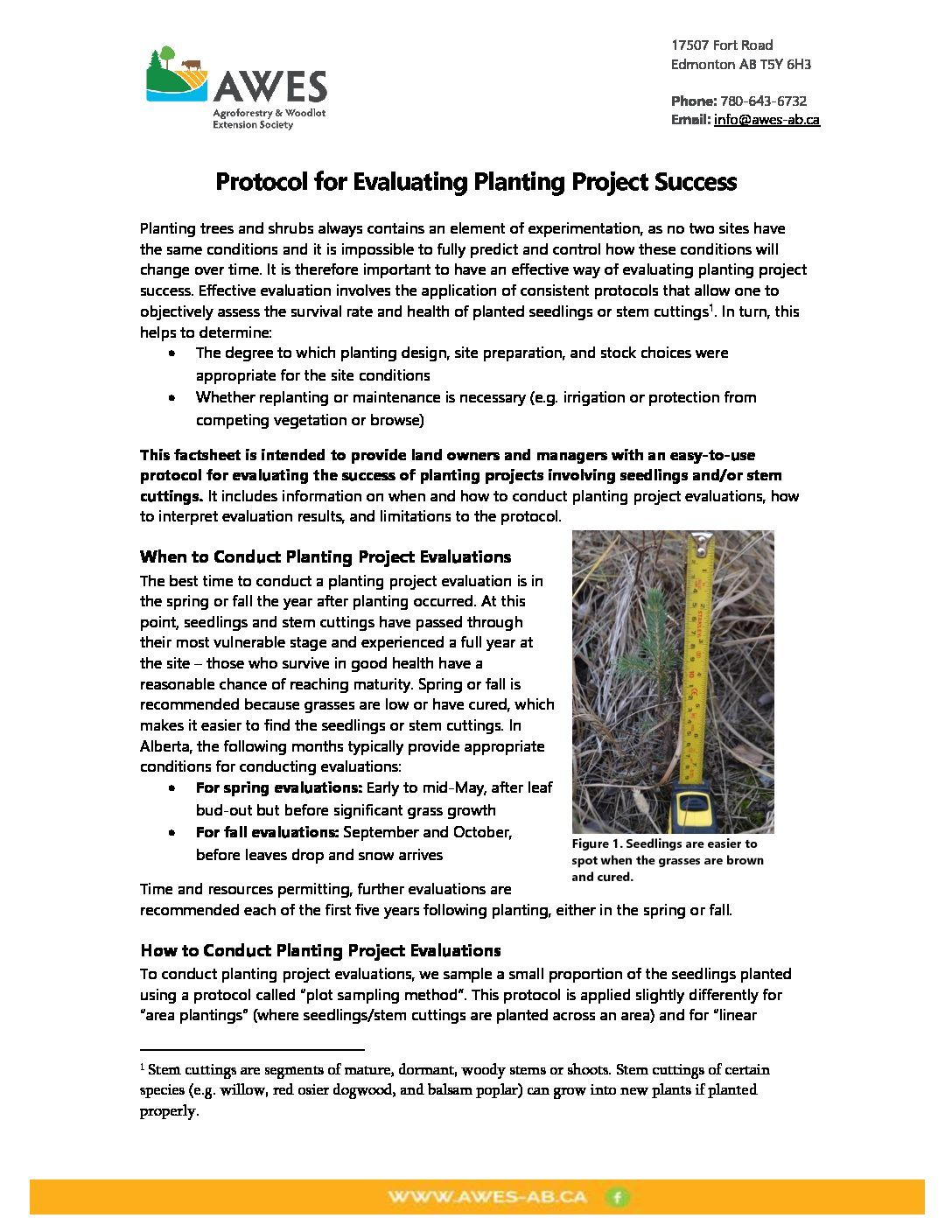 Protocol for Evaluating Planting Project Success