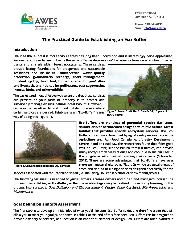 Practical Guide to Establishing an Eco-Buffer